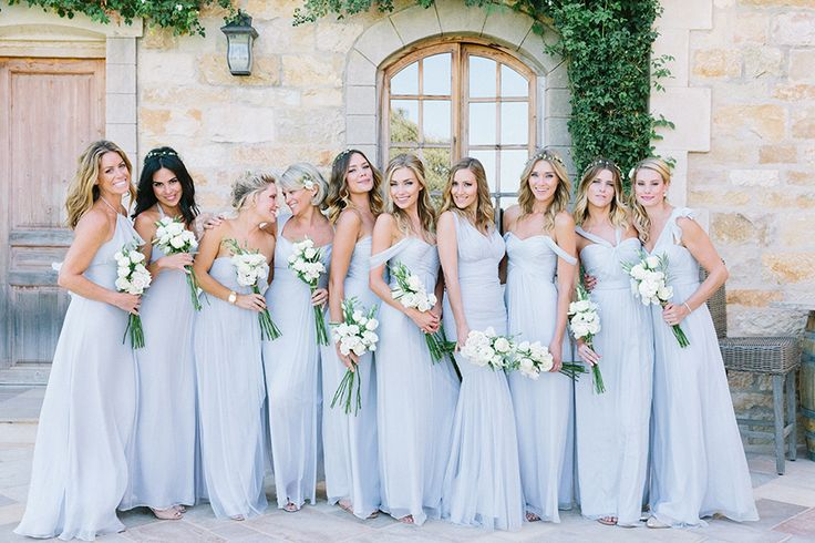 Blush Blue Bridesmaids