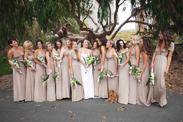 Nude bridesmaids